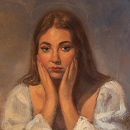 Patron Saint of Myself (Portrait of the Artist After Fra FIlippo Lippi)